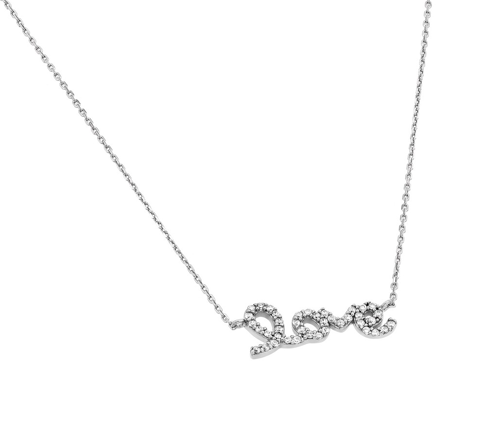 "Sterling Silver Script ""LOVE"" Necklace"